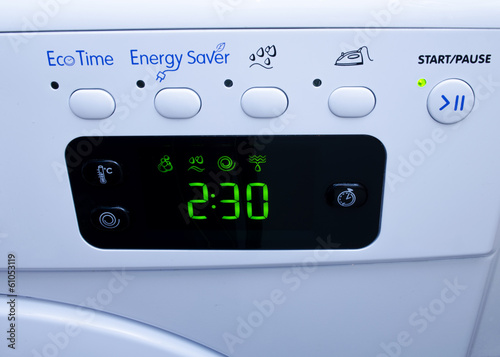 Display on washing machine
