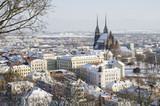 Wintry historic center of Brno