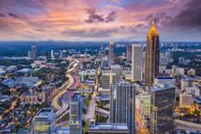 "Постер, картина, фотообои ""Atlanta, Georgia Skyine"""
