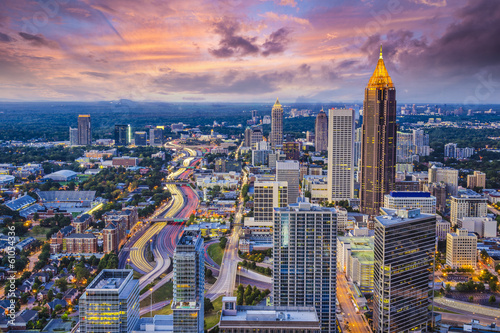 Deurstickers Verenigde Staten Atlanta, Georgia Skyine