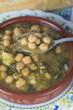 Potaje de garbanzos con bacalao y espinacas