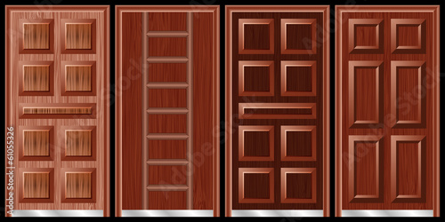 Wooden doors black