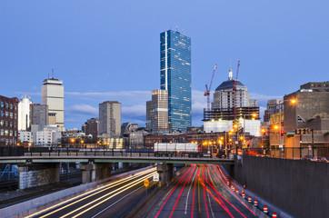 Boston, Massachusetts over the Turnpike