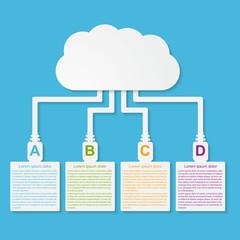Vector cloud computing concept. Modern design template.