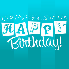 Blue Birthday Greeting Card
