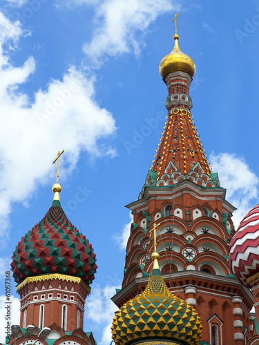 Moscow, Russia . Domes of St. Basil's Cathedral on Red Square