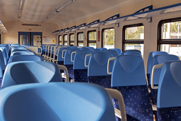 Interior car regional train