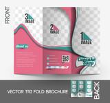 Cup Cake Shop Tri-Fold Brochure Design