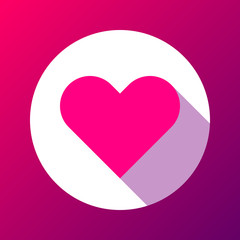 Magenta Abstract Heart Sign