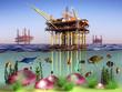 Oil and sea.