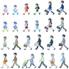 歩いている人々