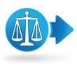 balance justice sur symbole web bleu