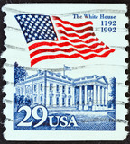 White House and flag (USA 1992)