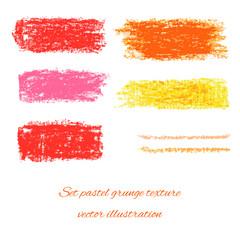 Set pastel grunge textures. Vector illustration/ EPS 10