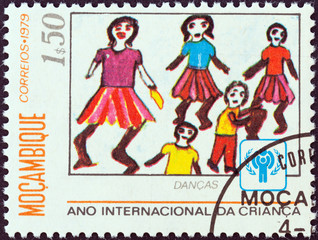 Dancers child drawing (Mozambique 1979)