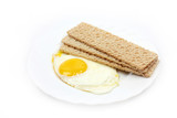 Fried eggs and fried bread as part morning food