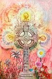 Psychedelic,celtic cross