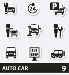 Auto car cartoon icons,vector