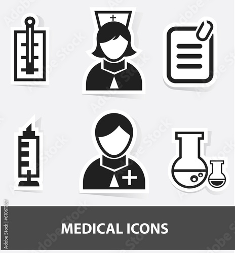 Medical cartoon icons,vector