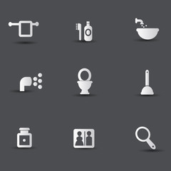 Bathroom icons,vector