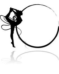 Logo ginnastica ritmica - Nastro