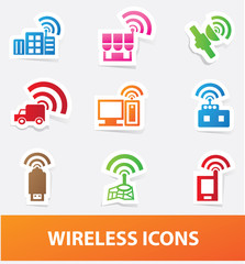 Wireless icons,vector