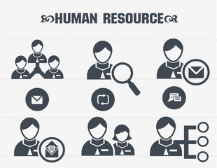 Human resource,business concept icons,vector