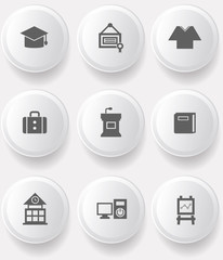Education buttons,vector