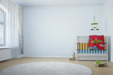 Nursery room with crip