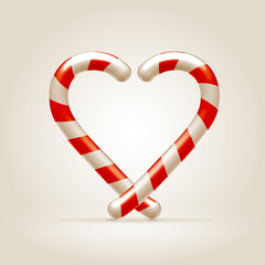 Sweetheart   made of candy canes