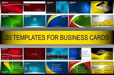 Business card set (6)