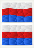 Russian Flag Background of triangles