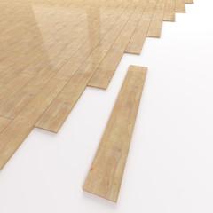 Pine wooden flooring construction