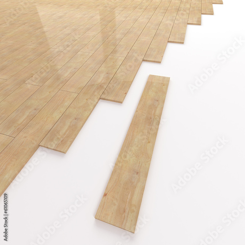Pine wooden flooring construction