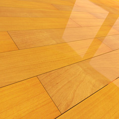 Stained wooden flooring tiles