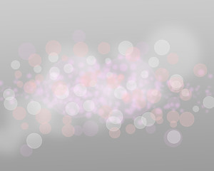 ilver Lights And Stars On Grey Background Abstract