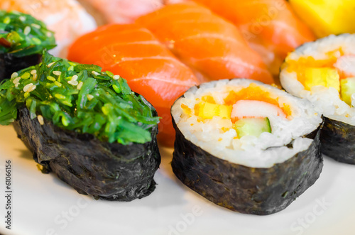 Sushi japanese food in plate - 61066156