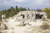 Stone forest near Varna, Bulgaria. Pobiti kamni, rock phenomenon