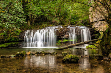 The Ferrera waterfall