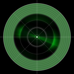 green radar location locator