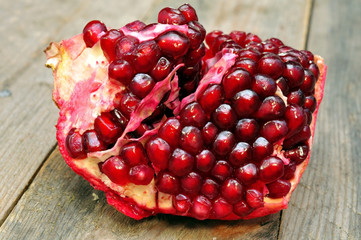 pomegranate fruit on white background