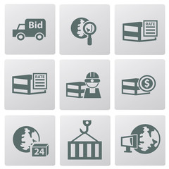Logistic icons,vector