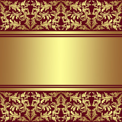 Luxury Background with golden ornamental border.