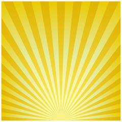 放射状背景(ゴールド)