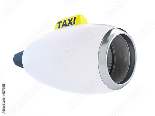 aircraft engine taxi on a white background