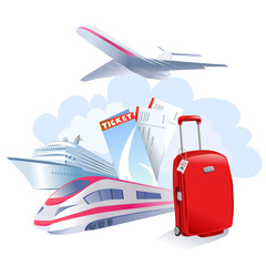 travel icon isolated