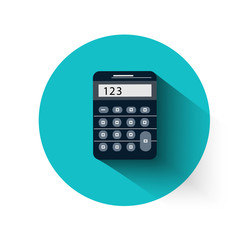 Calculator in flat design