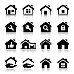 house iconset with reflex