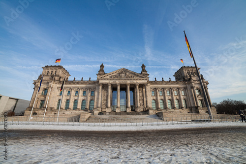 bundestag in berlin im winter