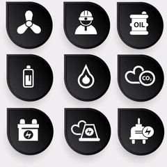 Energy and power nature icons,vector